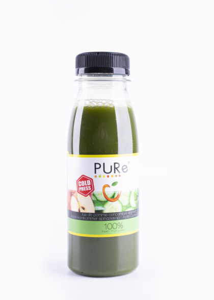 The Juicy Group - Pure - Sap van spinazie-komkommer - Pure 25cl.