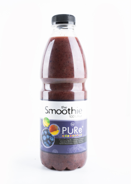 The Juicy Group - Pure - Smoothie van bosbes-mango-banaan - Pure HPP 1L.