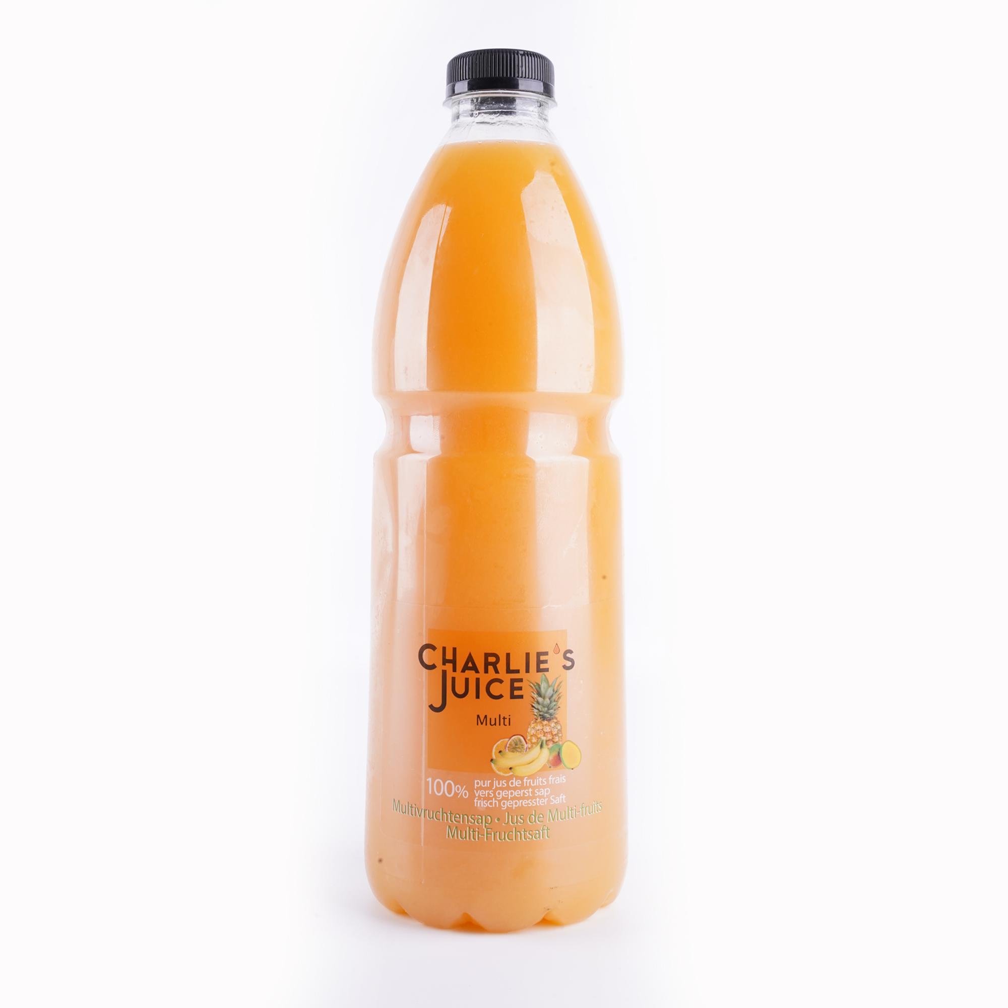 The Juicy Group - Charlie's Juice - Sap van multivruchten - HPP Pure 2L.