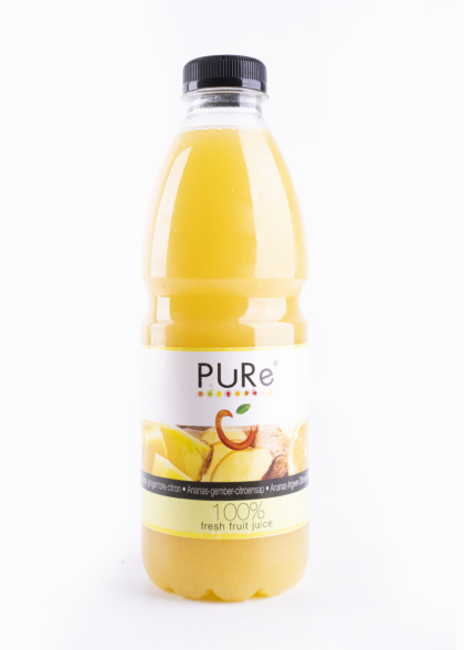 The Juicy Group - Pure - Sap van ananas-gember-citroen - Pure HPP 1L.