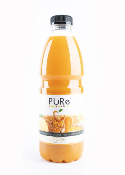 The Juicy Group - Pure - Jus de ananas-carotte-curcuma - Pure HPP 1L