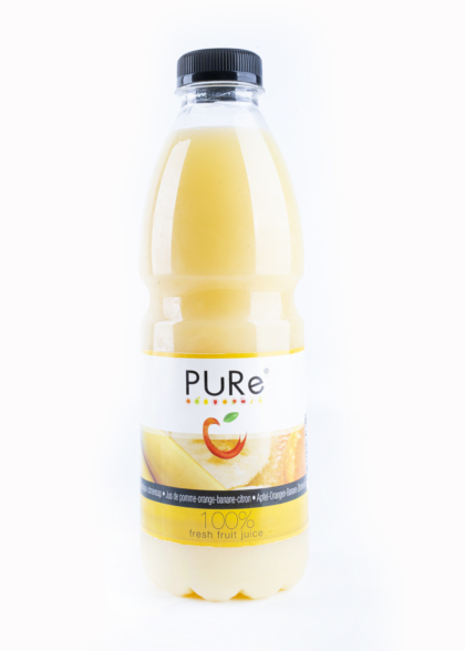 The Juicy Group - Pure - Sap van banaan-sinaas-banaan - Pure HPP 1L