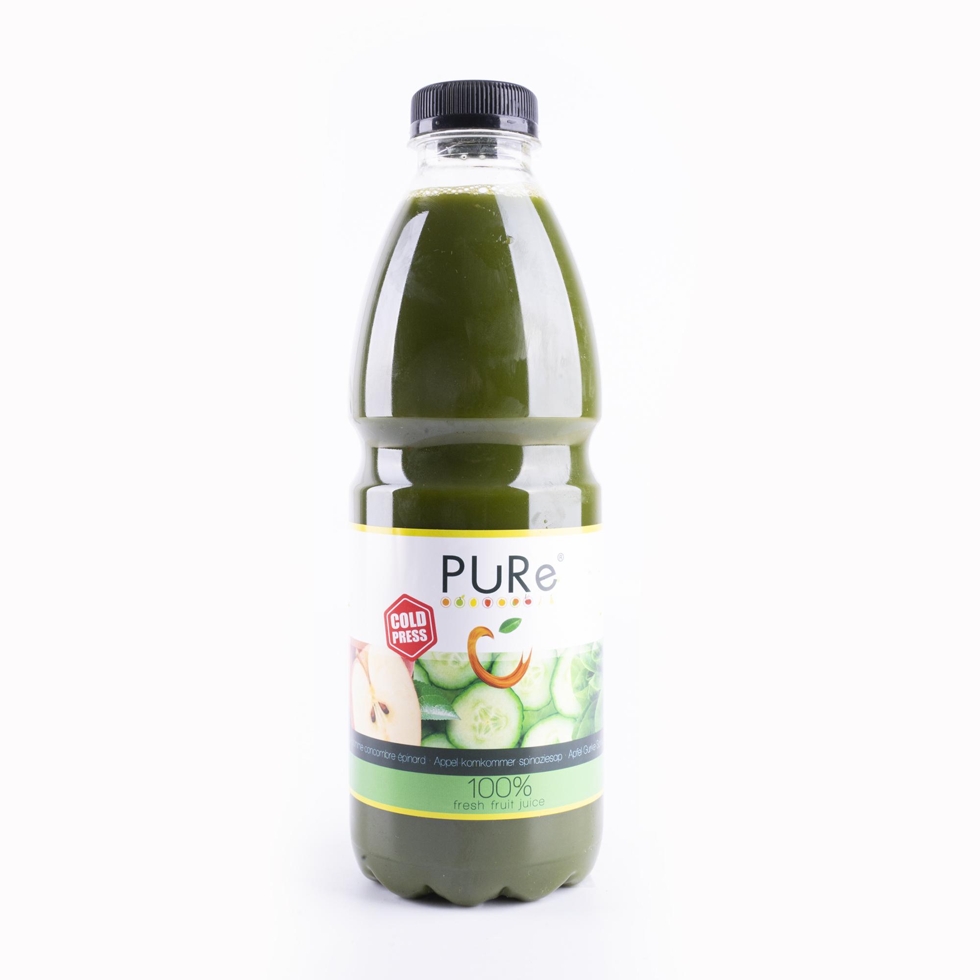 The Juicy Group - Pure - Jus de concombre d'épinards Pure HPP 1L