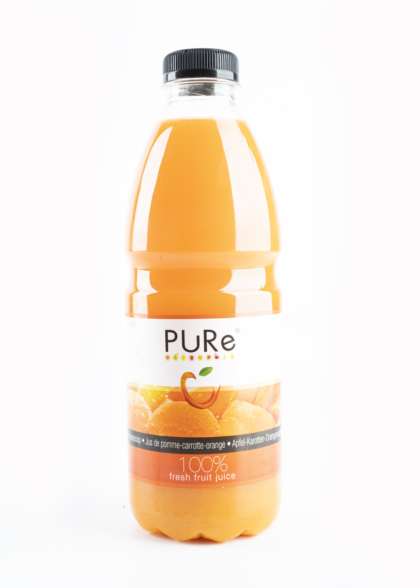 The Juicy Group - Pure - Jus de pomme-carotte-orange - Pure HPP 1L