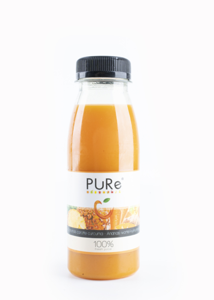 The Juicy Group - Sap ananas wortel kurkuma 25cl