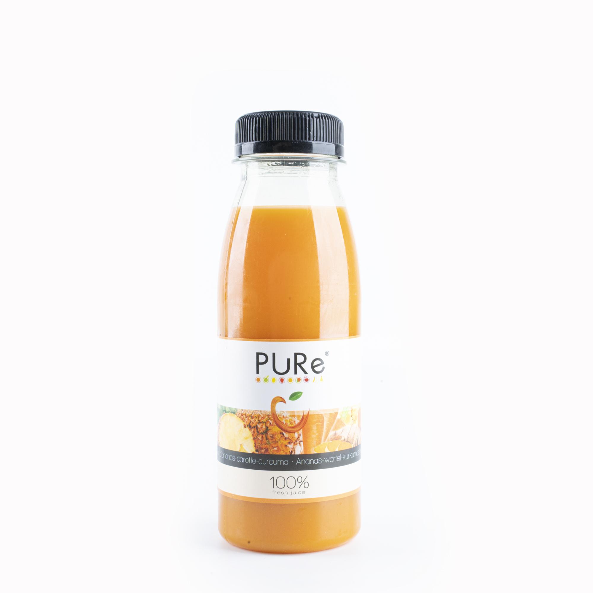 The Juicy Group - Sap ananas wortel kurkuma 25cl