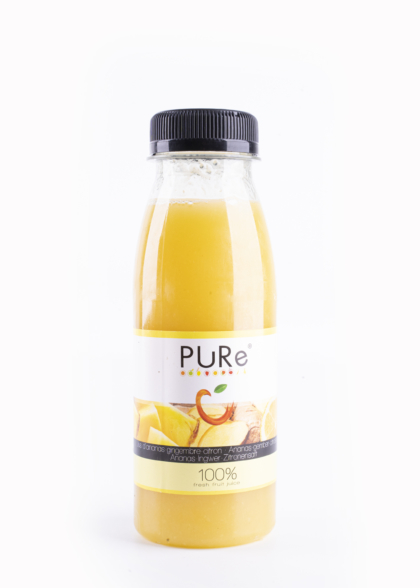 The Juicy Group - Pure - Sap ananas gember citroen 25cl.