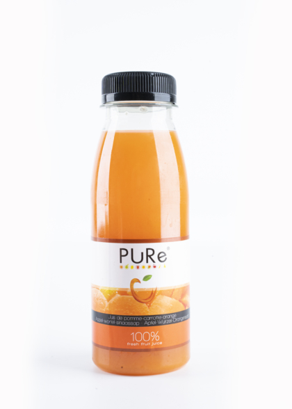 The Juicy Group - Pure - Jus de pomme - carotte - orange - Pure HPP 25cl