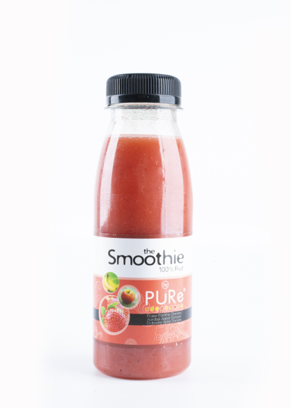 The Juicy Group - Pure - Smoothie van aardbei-banaan - Pure HPP 25cl.